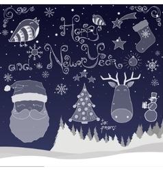 Happy New Year set vector image