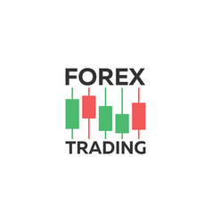 Logo candlestick trading chart analyzing in forex vector