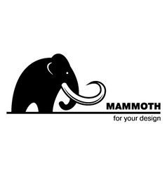 Mammoth icon vector
