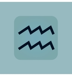 Pale blue aquarius icon vector