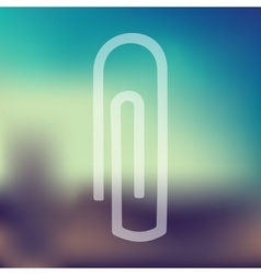 Paper clip icon on blurred background vector