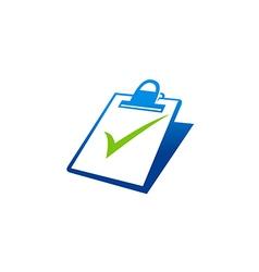 Paper list check business finance logo vector