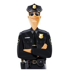 policeman in uniform vector image