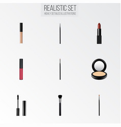 realistic cosmetic stick blusher contour style vector image vector image