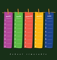 School timetable on clothespin icon illstration on vector