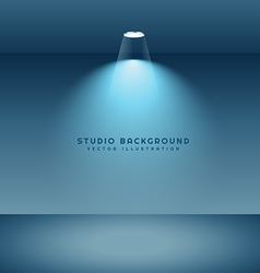 studio background with light vector image vector image