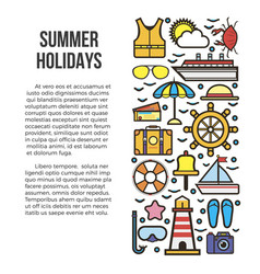 Summer holidays information list vector