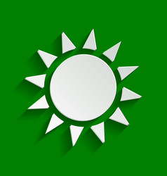 Sun sign paper whitish icon vector