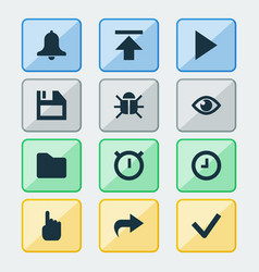 User icons set collection of watch siren done vector