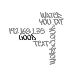 water it s good for you text word cloud concept vector image
