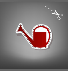 Watering sign red icon with for applique vector