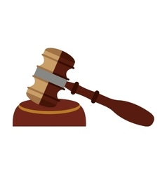 wooden gavel isolated icon design vector image vector image