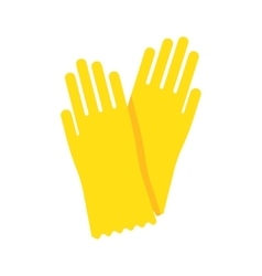 Yellow glove for hygiene cleaning vector image