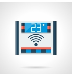 Flat style digital thermoregulator icon vector
