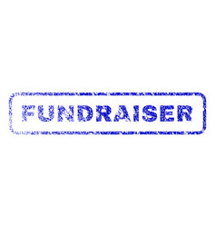 Fundraiser rubber stamp vector