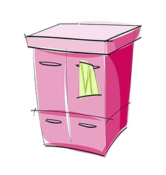 A chest of drawers vector