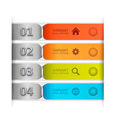 color banner tape vector image