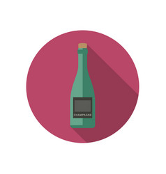 Champagne icon in flat style vector