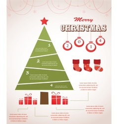 Christmas infographic icon set vector