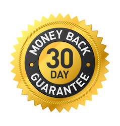 30 day money back guarantee label vector image