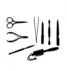 Manicure tools vector