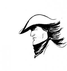 cowboy sketch vector image