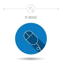 Computer mouse icon pc control device sign vector