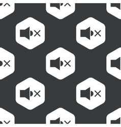 Black hexagon muted loudspeaker pattern vector