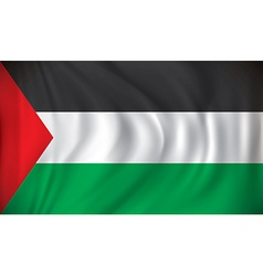 Flag of gaza strip vector