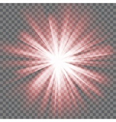 Glowing light burst vector