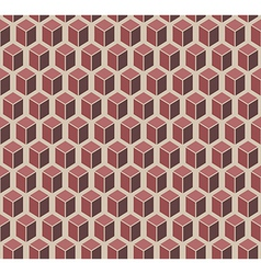 Brown cubes seamless pattern vector