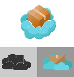 Cloud box logo icon symbol vector