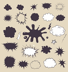 Comic effects elements vector image vector image