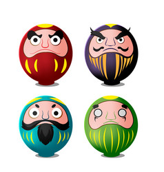 Daruma japan culture isolate object vector