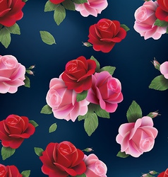 Elegant abstract seamless floral pattern with red vector image vector image