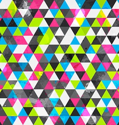 grunge colored triangle seamless pattern vector image vector image