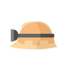Hardhat worker safety helmet graphic vector