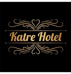 Katre hotel logo vector image vector image