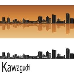 Kawaguchi skyline in orange vector image vector image