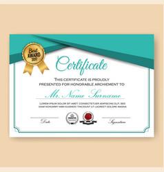 Modern verified certificate background vector