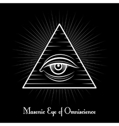Omniscience all seeing eye symbol vector