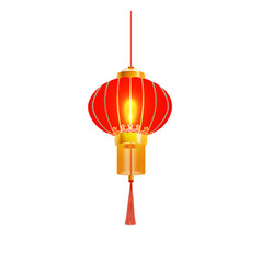 red chinese lantern isolated vector image