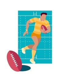 Rugby Sport Concept Icon Flat Design vector image vector image