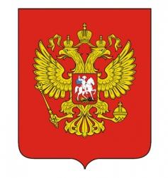 Russian emblem vector image vector image