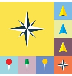 Set of navigational Flat Icons vector image vector image