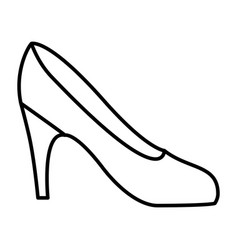 silhouette drawing of high heel shoe vector image vector image