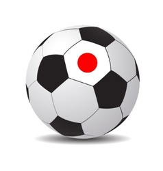 soccer ball with the flag of Japan vector image