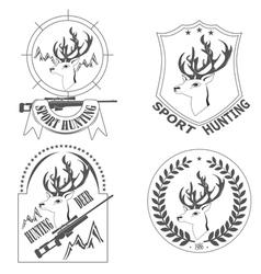 sport hunting deer vector image vector image