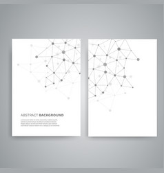 templates for report cover vector image