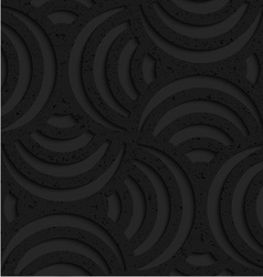 Textured black plastic striped pin will vector